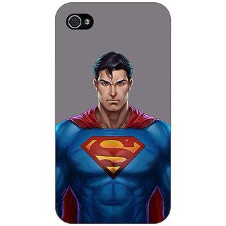 Jugaaduu Superheroes Superman Back Cover Case For Apple iPhone 4 - J10382