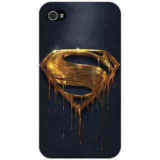Jugaaduu Superheroes Superman Back Cover Case For Apple iPhone 4 - J10391