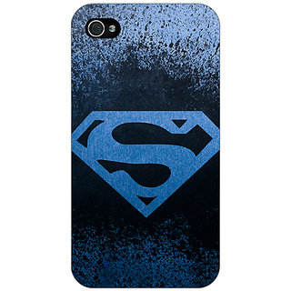 Jugaaduu Superheroes Superman Back Cover Case For Apple iPhone 4 - J10393