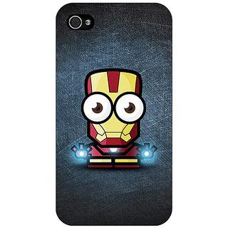 Jugaaduu Big Eyed Superheroes Iron Man Back Cover Case For Apple iPhone 4 - J10396