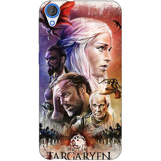 Jugaaduu Game Of Thrones GOT House Targaryen  Back Cover Case For HTC Desire 820Q - J290139