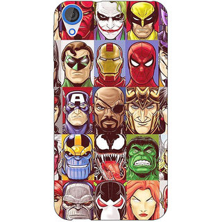 Jugaaduu Super Heroes and Villains Back Cover Case For HTC Desire 820 - J281401