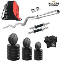 Headly 20 Kg Home Gym + 14 Dumbbells + Curl Rod + Gym Backpack Assorted + Accessories