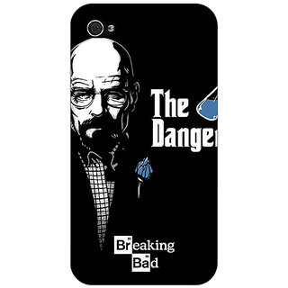 Jugaaduu Breaking Bad Heisenberg Back Cover Case For Apple iPhone 4 - J10406