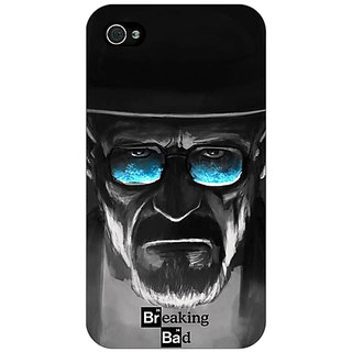 Jugaaduu Breaking Bad Heisenberg Back Cover Case For Apple iPhone 4 - J10426