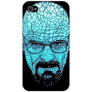 Jugaaduu Breaking Bad Heisenberg Back Cover Case For Apple iPhone 4 - J10428