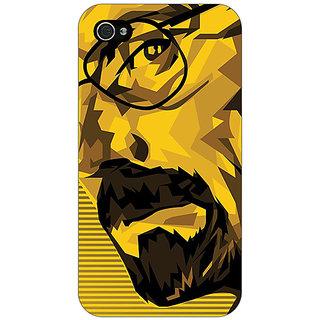 Jugaaduu Breaking Bad Heisenberg Back Cover Case For Apple iPhone 4 - J10432