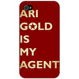 Jugaaduu Entourage Ari Gold Back Cover Case For Apple iPhone 4 - J10436