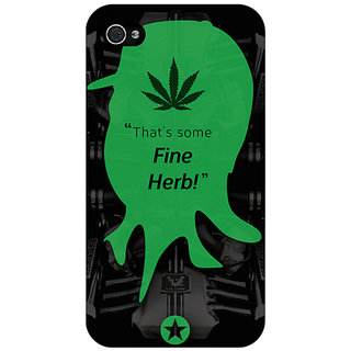 Jugaaduu Entourage Turtle Back Cover Case For Apple iPhone 4 - J10440