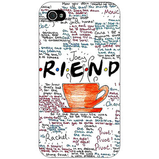 Jugaaduu FRIENDS Back Cover Case For Apple iPhone 4 - J10451