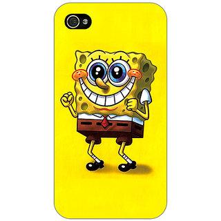 Jugaaduu Spongebob Back Cover Case For Apple iPhone 4 - J10470