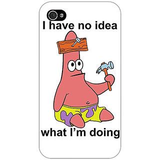 Jugaaduu Spongebob Patrick Back Cover Case For Apple iPhone 4 - J10474