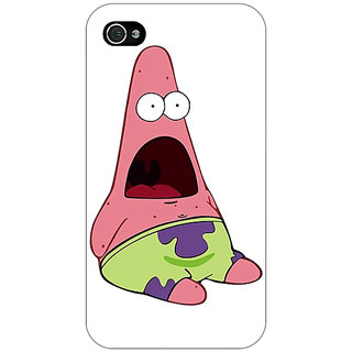 Jugaaduu Spongebob Patrick Back Cover Case For Apple iPhone 4 - J10475