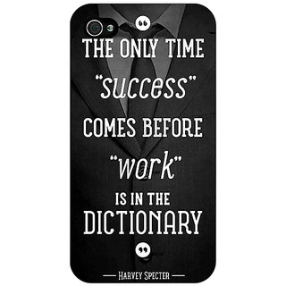 Jugaaduu SUITS Quotes Back Cover Case For Apple iPhone 4 - J10476