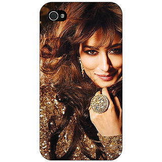 Jugaaduu Bollywood Superstar Chitrangada Singh Back Cover Case For Apple iPhone 4 - J11034