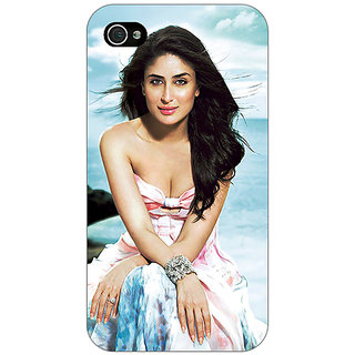 Jugaaduu Bollywood Superstar Kareena Kapoor Back Cover Case For Apple iPhone 4 - J11047