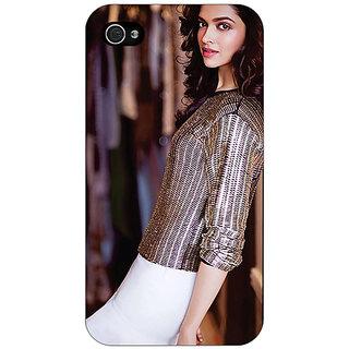 Jugaaduu Bollywood Superstar Deepika Padukone Back Cover Case For Apple iPhone 4 - J11053