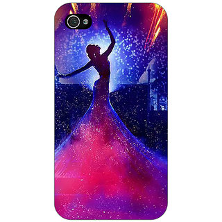 Jugaaduu Bollywood Superstar Deepika Padukone Back Cover Case For Apple iPhone 4 - J11060