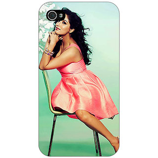 Jugaaduu Bollywood Superstar Yami Gautam Back Cover Case For Apple iPhone 4 - J11076