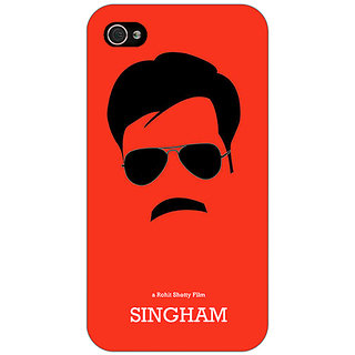 Jugaaduu Bollywood Superstar Singham Back Cover Case For Apple iPhone 4 - J11079