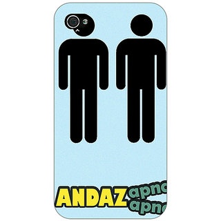 Jugaaduu Bollywood Superstar Andaz Apna Apna Back Cover Case For Apple iPhone 4 - J11080