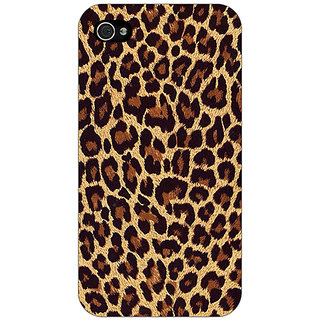 Jugaaduu Leopard Cheetah Pattern Back Cover Case For Apple iPhone 4 - J11387