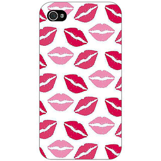 Jugaaduu Kiss Back Cover Case For Apple iPhone 4 - J11407
