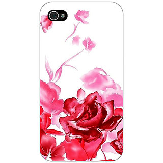 Jugaaduu Floral Pattern Back Cover Case For Apple iPhone 4 - J11410