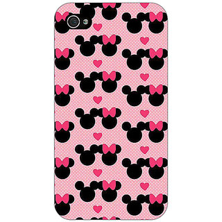 Jugaaduu Mickey Minnie Mouse Back Cover Case For Apple iPhone 4 - J11417