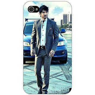 Jugaaduu Bollywood Superstar Sushant Singh Rajput Back Cover Case For Apple iPhone 4 - J10914
