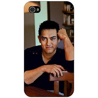 Jugaaduu Bollywood Superstar Aamir Khan Back Cover Case For Apple iPhone 4 - J10915