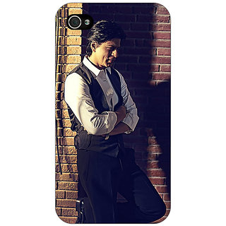 Jugaaduu Bollywood Superstar Shahrukh Khan Back Cover Case For Apple iPhone 4 - J10916