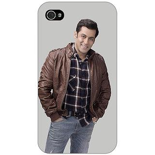 Jugaaduu Bollywood Superstar Salman Khan Back Cover Case For Apple iPhone 4 - J10922