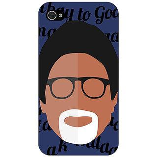 Jugaaduu Bollywood Superstar Amitabh Bachchan Back Cover Case For Apple iPhone 4 - J11093
