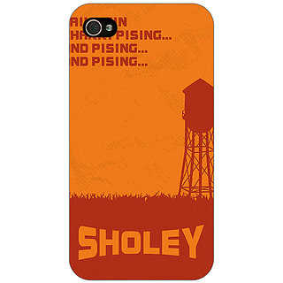 Jugaaduu Bollywood Superstar Sholay Back Cover Case For Apple iPhone 4 - J11125