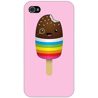 Jugaaduu Rainbow Icecream Back Cover Case For Apple iPhone 4 - J11146