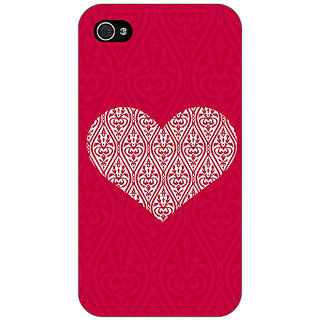 Jugaaduu Hearts Back Cover Case For Apple iPhone 4 - J11425