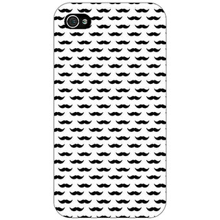 Jugaaduu Moustache Back Cover Case For Apple iPhone 4 - J11448