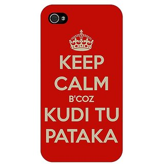 Jugaaduu PATAKA Quote Back Cover Case For Apple iPhone 4 - J11468