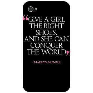 Jugaaduu Quote Back Cover Case For Apple iPhone 4 - J11470