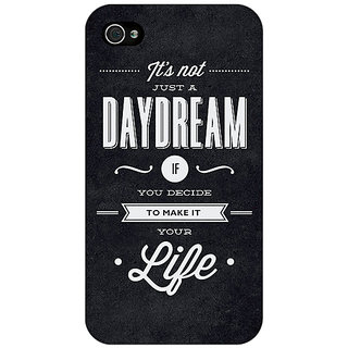 Jugaaduu Quote Back Cover Case For Apple iPhone 4 - J11471