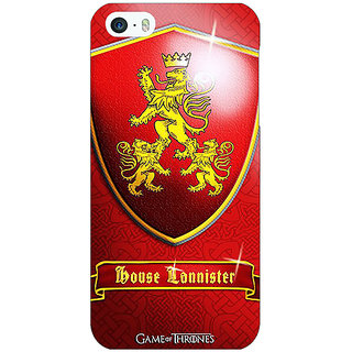 Jugaaduu Game Of Thrones GOT House Lannister  Back Cover Case For Apple iPhone 5 - J20164