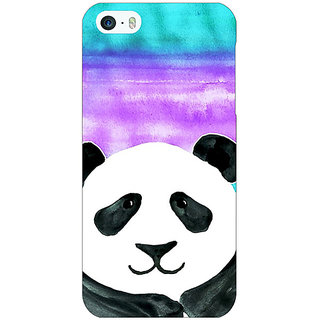 Jugaaduu Panda Pattern Back Cover Case For Apple iPhone 5 - J20206