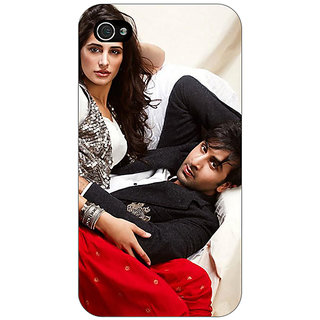 Jugaaduu Bollywood Superstar Nargis Fakhri Ranbir Kapoor Back Cover Case For Apple iPhone 4 - J10973