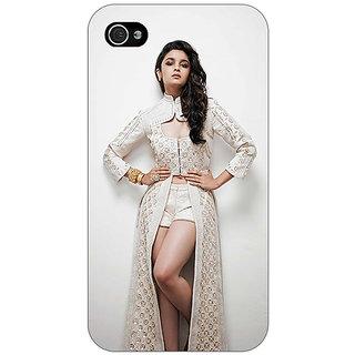Jugaaduu Bollywood Superstar Alia Bhatt Back Cover Case For Apple iPhone 4 - J10983
