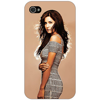 Jugaaduu Bollywood Superstar Katrina Kaif Back Cover Case For Apple iPhone 4 - J10993