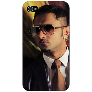 Jugaaduu Bollywood Superstar Honey Singh Back Cover Case For Apple iPhone 4 - J11184
