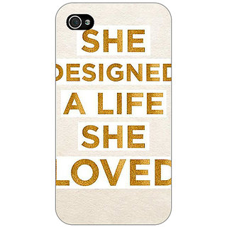 Jugaaduu Quotes Beautiful Back Cover Case For Apple iPhone 4 - J11190