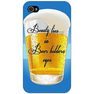 Jugaaduu Beer Holder Back Cover Case For Apple iPhone 4 - J11208