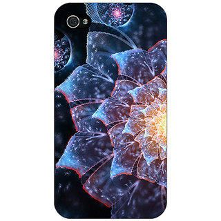 Jugaaduu Abstract Flower Pattern Back Cover Case For Apple iPhone 4 - J11515